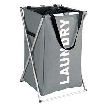 Szary kosz na pranie Wenko Uno Laundry, 52 l
