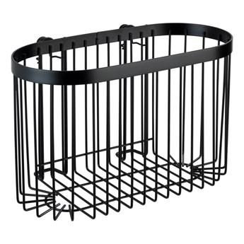 Czarny koszyk ścienny Wenko Classic Plus