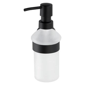 Czarno-biały ścienny dozownik do mydła Wenko Bosio