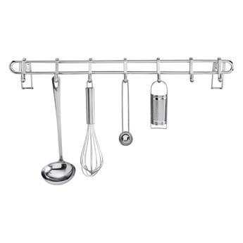 Kuchenna półka ścienna z 7 haczykami Wenko Hook Style