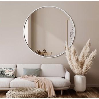 Lustro Scandi – okrągłe w białej ramie