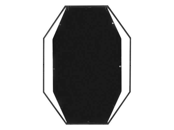 Lustro ścienne wiszące ośmiokątne szare metalowe 80 x 60 cm styl nowoczesny minimalistyczny Styl Glamour Styl Industrialny