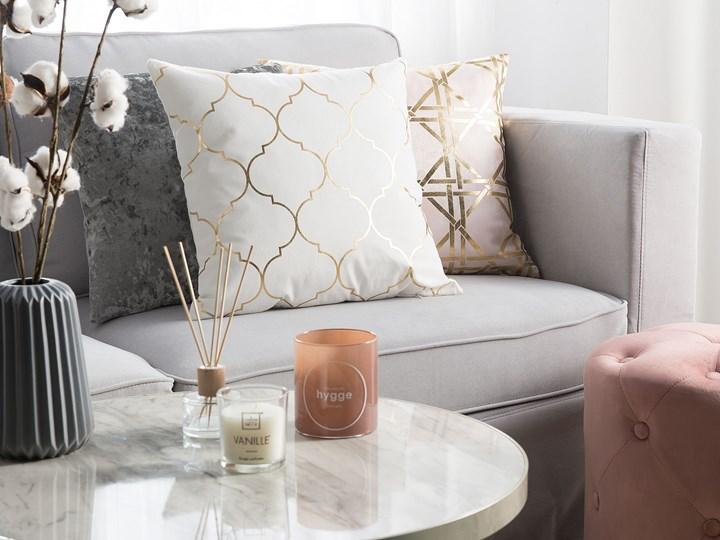 Zestaw 2 poduszek dekoracyjnych biały marokańska koniczyna 45 x 45 cm z wypełnieniem akcesoria salon sypialnia Poliester 45x45 cm Kwadratowe Kategoria Poduszki i poszewki dekoracyjne