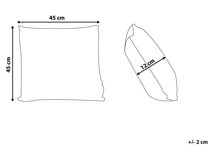 Zestaw 2 poduszek dekoracyjnych biały marokańska koniczyna 45 x 45 cm z wypełnieniem akcesoria salon sypialnia Kwadratowe Poliester 45x45 cm Wzór Marokański