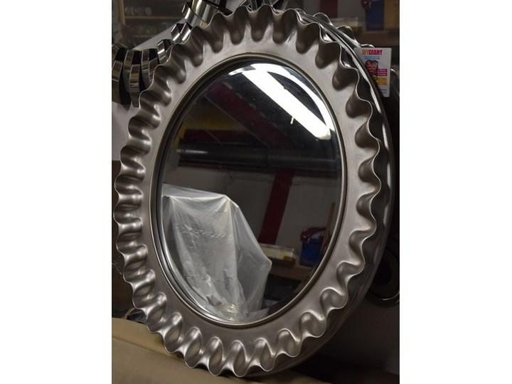 Srebrne lustro PU 360S 60cmx60cm outlet Lustro z ramą Okrągłe Pomieszczenie Przedpokój Ścienne Kategoria Lustra
