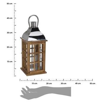 Nowoczesny lampion drewniany 39 cm
