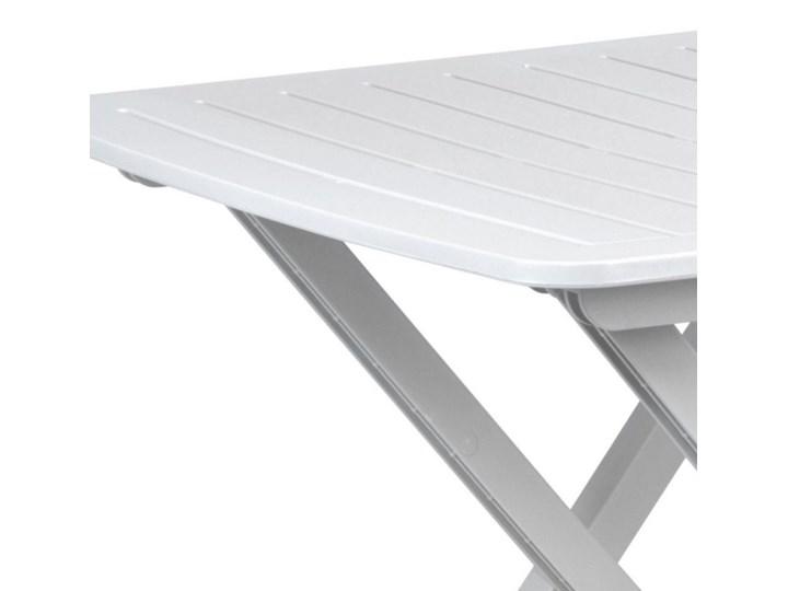 Stół składany balkonowy biały 50 cm Stoliki turystyczne Tworzywo sztuczne Stoliki balkonowe Szerokość 44 cm Stoły rozkładane Stoliki tarasowe Prostokątny Kategoria Stoły ogrodowe