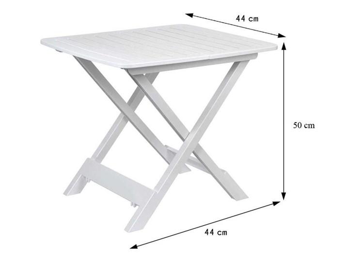 Stół składany balkonowy biały 50 cm Stoliki balkonowe Stoliki turystyczne Szerokość 44 cm Prostokątny Tworzywo sztuczne Stoły rozkładane Stoliki tarasowe Kategoria Stoły ogrodowe