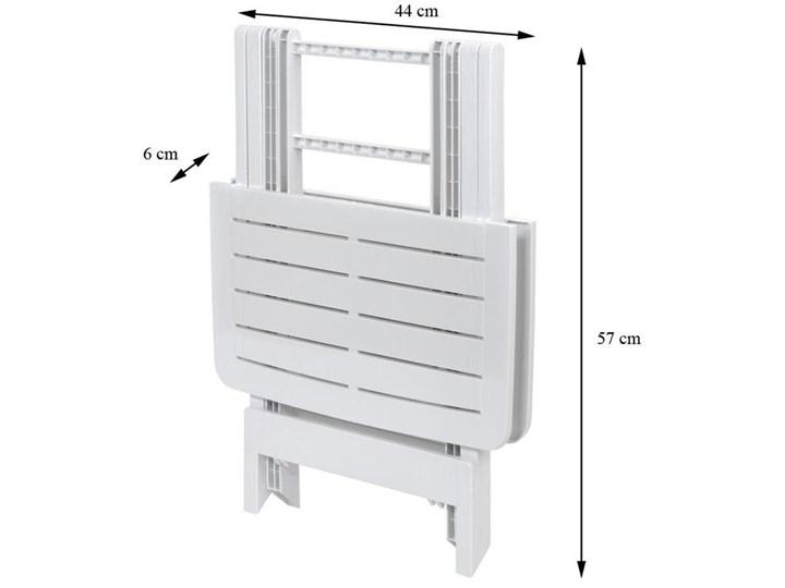 Stół składany balkonowy biały 50 cm Prostokątny Stoły rozkładane Tworzywo sztuczne Stoliki turystyczne Szerokość 44 cm Stoliki balkonowe Stoliki tarasowe Kategoria Stoły ogrodowe