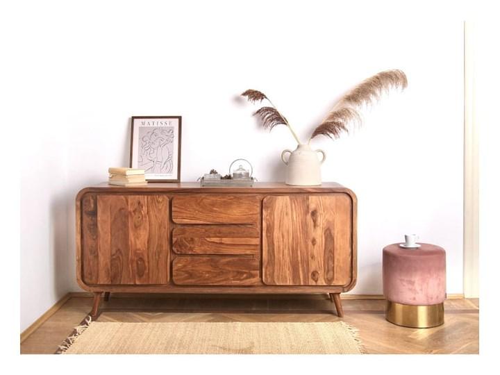 Kredens HENIO (Bursztyn) Z szafkami i szufladami Pomieszczenie Sypialnia Drewno Styl Nowoczesny