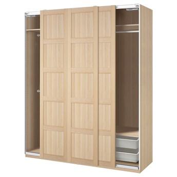 IKEA PAX / BERGSBO Kombinacja szafy, dąb bejcowany na biało, 200x66x236 cm