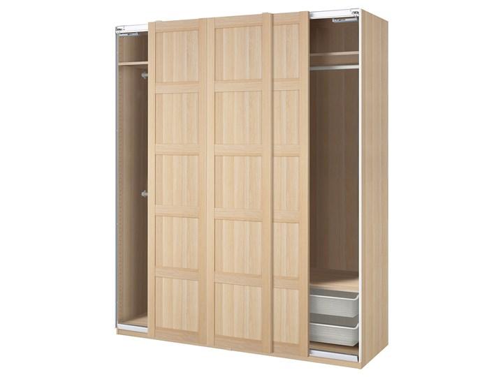 IKEA PAX / BERGSBO Kombinacja szafy, dąb bejcowany na biało, 200x66x236 cm Stal Drewno Metal Pomieszczenie Przedpokój Styl Nowoczesny