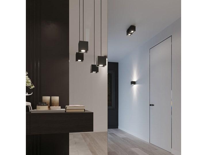 Sollux Lampa Plafon QUAD 1 czarny SL.0022 Oprawa Sufitowa Idealna do Salonu Korytarza Lampa Minimalistyczne Oświetlenie Gu10 LED Kwadratowe Oprawa halogenowa Oprawa stropowa Oprawa led Kategoria Oprawy oświetleniowe