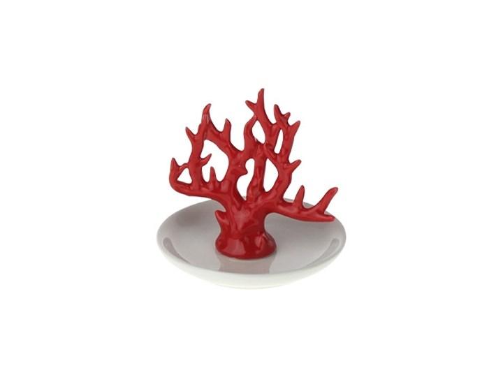 STOJAK PORCELANOWY  NA BIŻUTERIĘ CORAL 10,5X10,5X10CM Ceramika Kategoria Figury i rzeźby