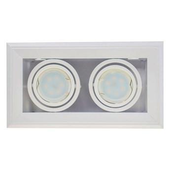 Lampa podtynkowa Blocco biały 2x7W GU10 LED