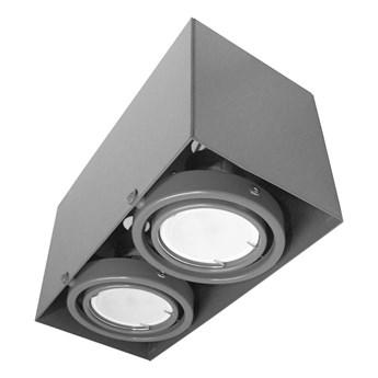 Lampa sufitowa Blocco szara 2x7W GU10 LED