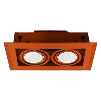 Lampa podtynkowa Blocco pomarańczowy 2x7W GU10 LED