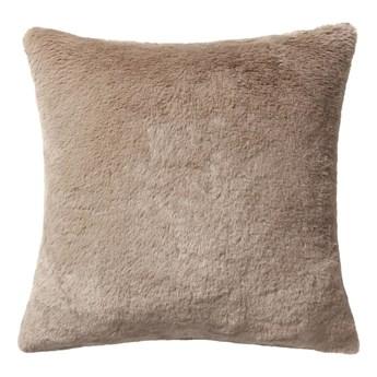 Poduszka pluszowa Rabbit Fur beżowa 45 x 45 cm