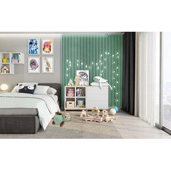 Lamele Pastel 3D – pionowe panele dekoracyjne 3 D MAT – 240 cm – 5 dekorów - uniwersalny  - LM023 - Pistacjowa mięta