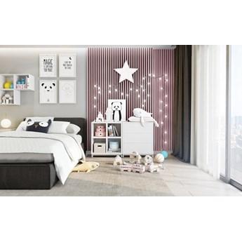 Lamele Pastel 3D – pionowe panele dekoracyjne 3 D MAT – 240 cm – 5 dekorów - uniwersalny  - LM024 - Pudrowy róż