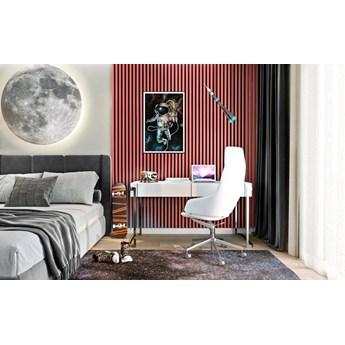 Lamele Pastel 3D – pionowe panele dekoracyjne 3 D MAT – 240 cm – 5 dekorów - uniwersalny  - LM022 - Koralowy melon