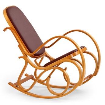 Drewniany fotel bujany w kolorze Olcha - Dixel