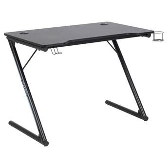 Czarne biurko z metalowymi nogami - Sonix