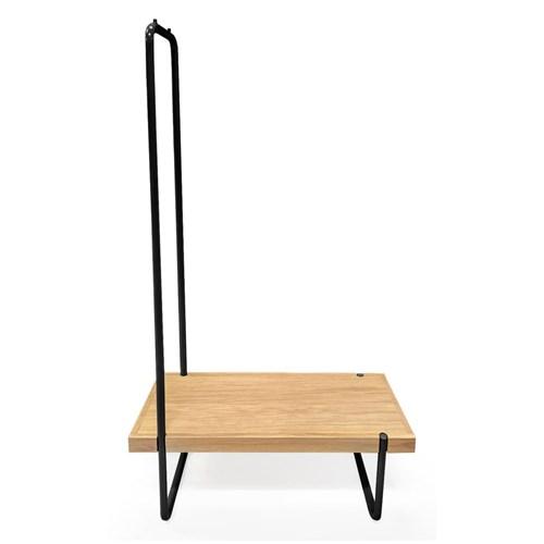 Zestaw ławki i wieszaka ze stalową konstrukcją Woodman Ben