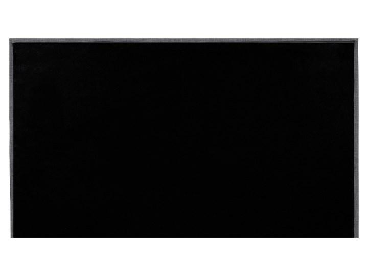 Łóżko ciemnoszare tapicerowane 180 x 200 cm ze stelażem wezgłowiem i zanóżkiem Łóżko tapicerowane Kategoria Łóżka do sypialni