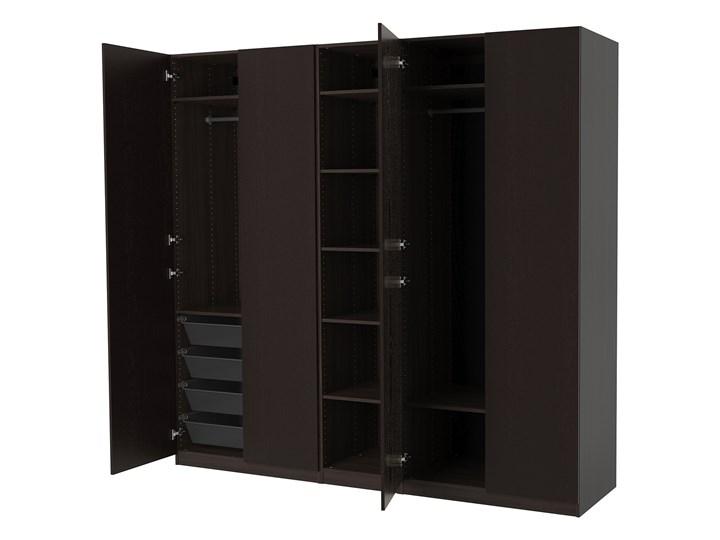 IKEA PAX Szafa, czarnybrąz/Forsand imitacja jesionu bejca czbr, 250x60x236 cm