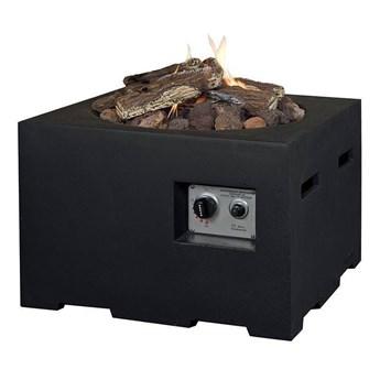 Palenisko gazowe kwadratowe 60cm czarne