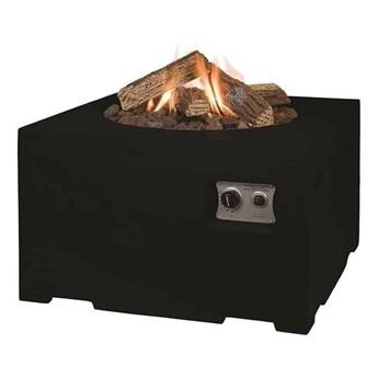Palenisko gazowe kwadratowe 76cm czarne