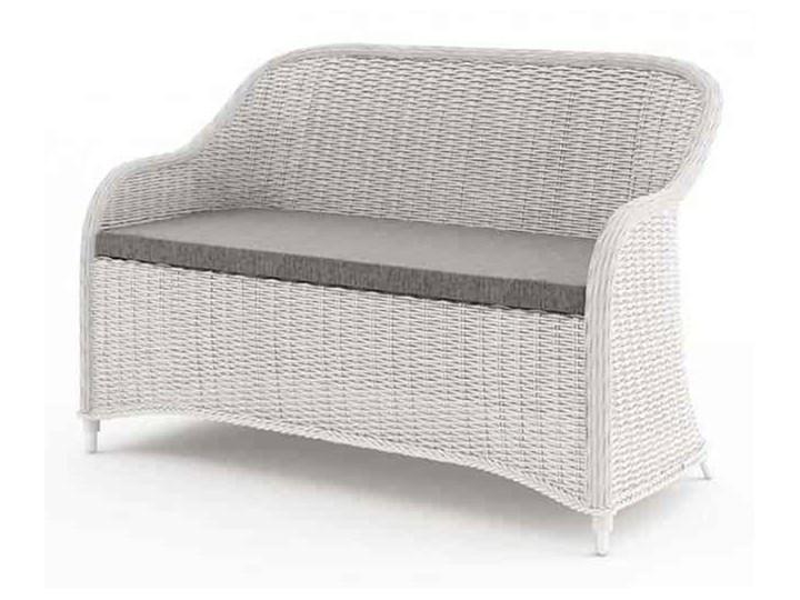 Meble ogrodowe LEONARDO royal białe Technorattan Zawartość zestawu Stolik Tworzywo sztuczne Zestawy wypoczynkowe Aluminium Zawartość zestawu Sofa