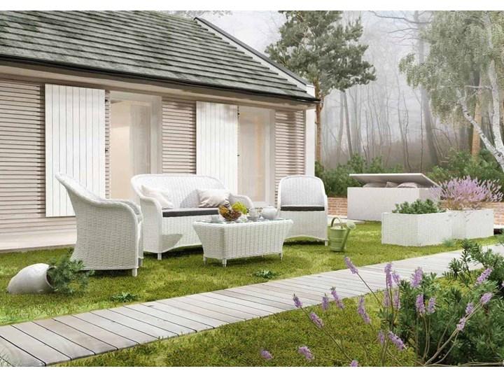 Meble ogrodowe LEONARDO royal białe Styl Minimalistyczny Technorattan Tworzywo sztuczne Aluminium Zestawy wypoczynkowe Styl Skandynawski