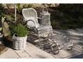 Meble na balkon MARSEILLE białe przecierane Styl Vintage Rattan Zawartość zestawu Fotele