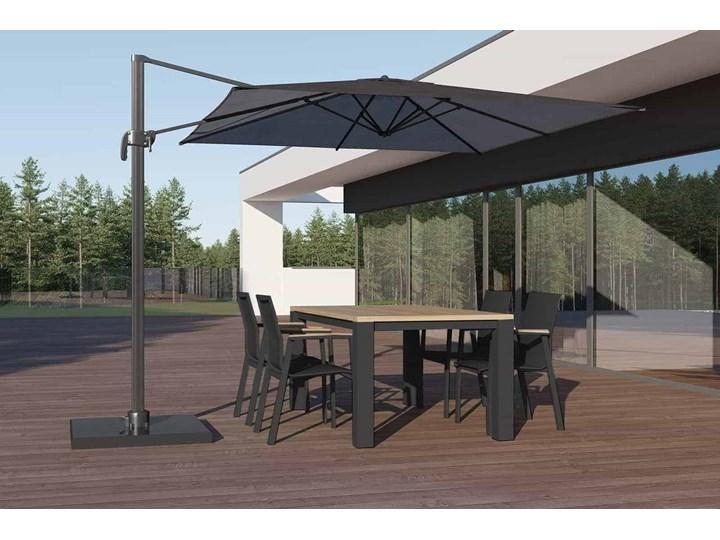 Zestaw ogrodowy MADRIT - LEON antracyt Drewno Stoły z krzesłami Aluminium Zawartość zestawu Krzesła