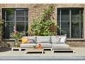 Zestaw wypoczynkowy na taras EVORA I antracyt Zestawy wypoczynkowe Aluminium Drewno Kolor Szary