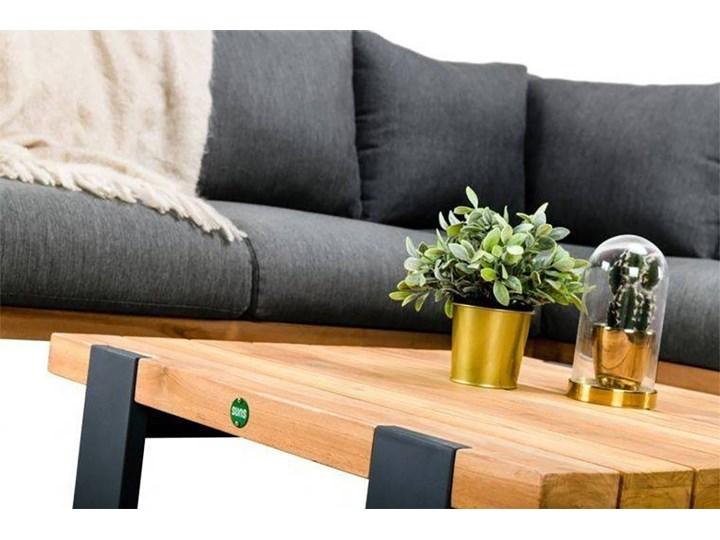 Zestaw wypoczynkowy do ogrodu NARDO II antracyt Aluminium Drewno Kolor Czarny Zestawy wypoczynkowe Kategoria Zestawy mebli ogrodowych