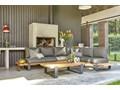 Zestaw wypoczynkowy do ogrodu NARDO II antracyt Aluminium Drewno Zestawy wypoczynkowe Kolor Czarny