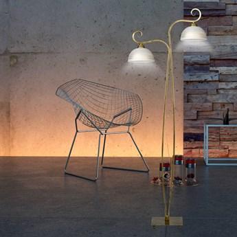 WIVARA LP2 GOLD 149/LP2 klasyczna lampa podłogowa szklane białe klosze dużo światła