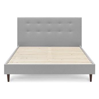 Jasnoszare łóżko dwuosobowe Bobochic Paris Rory Dark, 180x200 cm