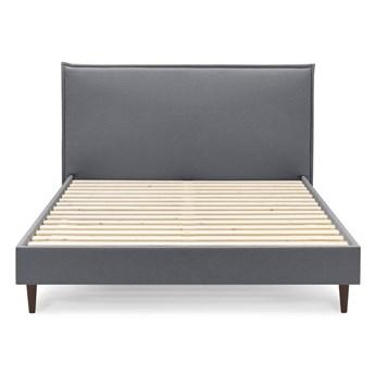 Ciemnoszare łóżko dwuosobowe Bobochic Paris Sary Dark, 160x200 cm