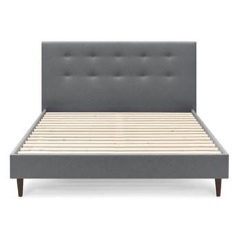 Antracytowoszare łóżko dwuosobowe Bobochic Paris Rory Dark, 180x200 cm
