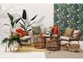 Beżowe meble ogrodowe ze sztucznego rattanu Le Bonom Vistdal Tworzywo sztuczne Stoły z krzesłami Stal Zestawy wypoczynkowe Zawartość zestawu Krzesła