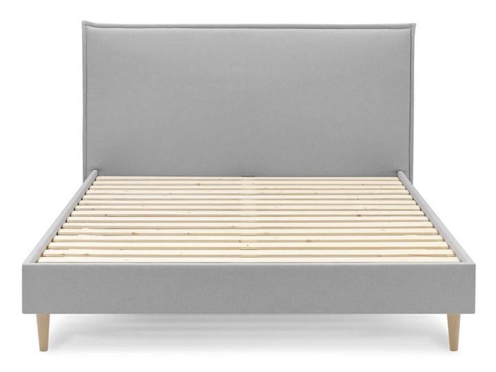Szare łóżko dwuosobowe Bobochic Paris Sary Light, 160x200 cm