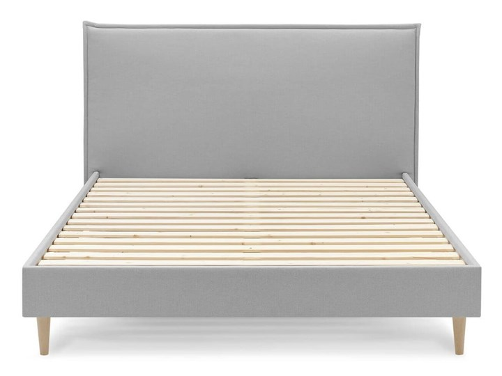 Szare łóżko dwuosobowe Bobochic Paris Sary Light, 160x200 cm Kategoria Łóżka do sypialni Kolor Szary