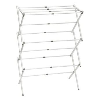 Biała 3-poziomowa suszarka do ubrań iDesign Brezio, 75x38 cm