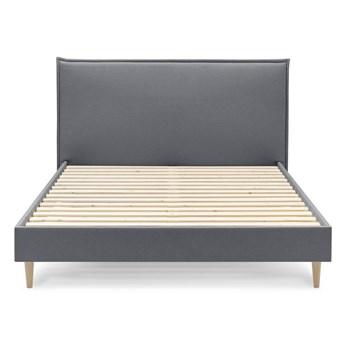Ciemnoszare łóżko dwuosobowe Bobochic Paris Sary Light, 180x200 cm