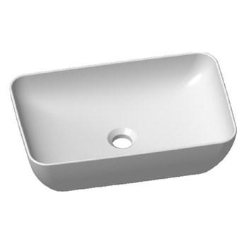Umywalka nablatowa prostokątna SENJA/VERONA/VENEZIA/NICEA biała
