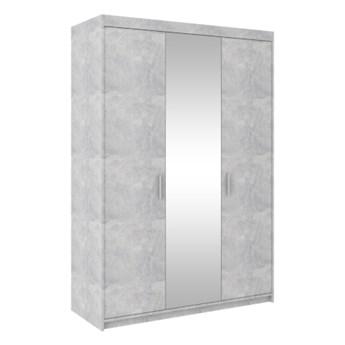 Szafa z lustrem ELENA 3D beton jasny